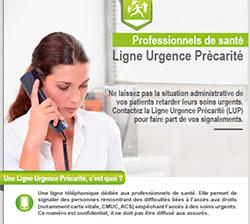 affiche ligne urgence precarite